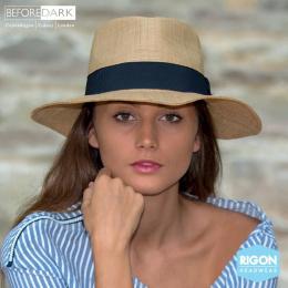 Chapeau Traveller Signature Paille Raffia Naturel - Rigon Headwear