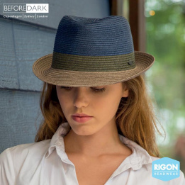 Trilby Block Blue & Grey Hat