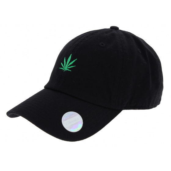 Black Cotton Strapback Cap - Kbethos