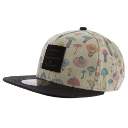 Casquette Strapback Mushroom Illustrated Beige - Official