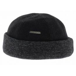 Bonnet sparr II Laine & Cachemire Noir / Gris - Stetson