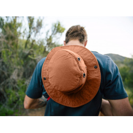 Chapeau Safari Wanderer Globe Trotteur T3 Wanderer Orange- Tilley