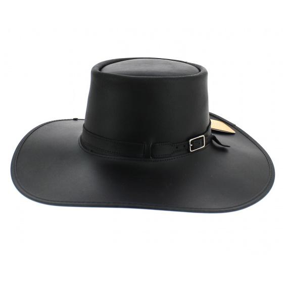 Chapeau grand bord cuir cavalier