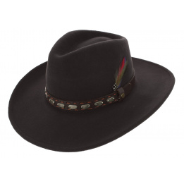Traveller Sanger Sanger Felt Hat Brown Wool - Stetson