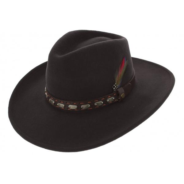 Traveller Sanger Sanger Felt Hat Brown Wool - Stetson
