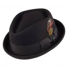 Chapeau Porkpie Keaton Jaxon noir