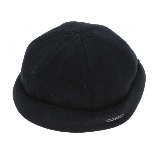 Bonnet Docker Liner Coton Noir - Stetson