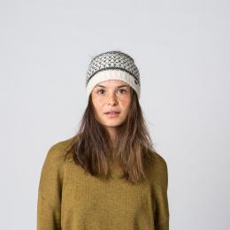 Bonnet Pompon Fausse Fourrure Glacon Laine Marron - Kristo