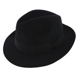 Chapeau Fédora Winston Feutre Poils Noir