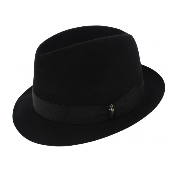 Borsalino Hat blues brothers Black