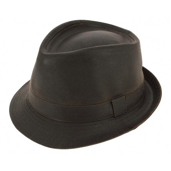 Chapeau Trilby Tycoon Coton Marron - Aussie Apparel