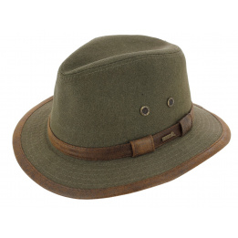 Traveller Hat Salford Olive Cotton - Hatland