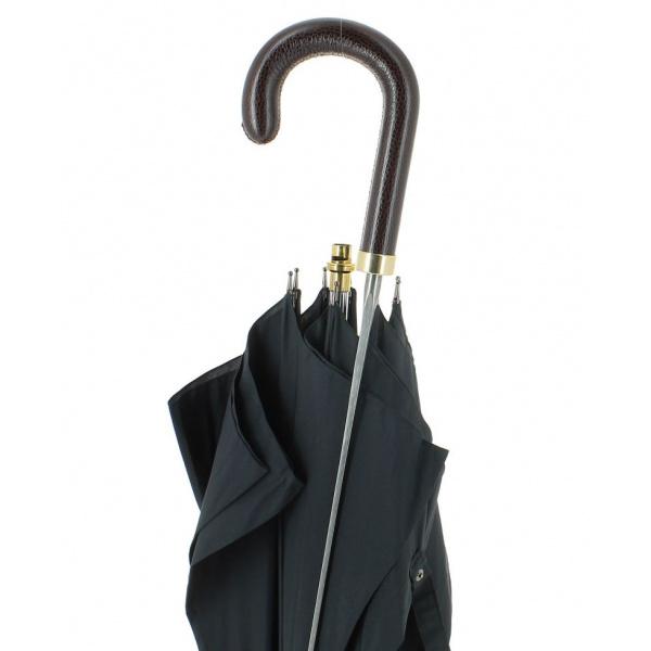 Parapluie épée noir poignée Cuir - Fayet