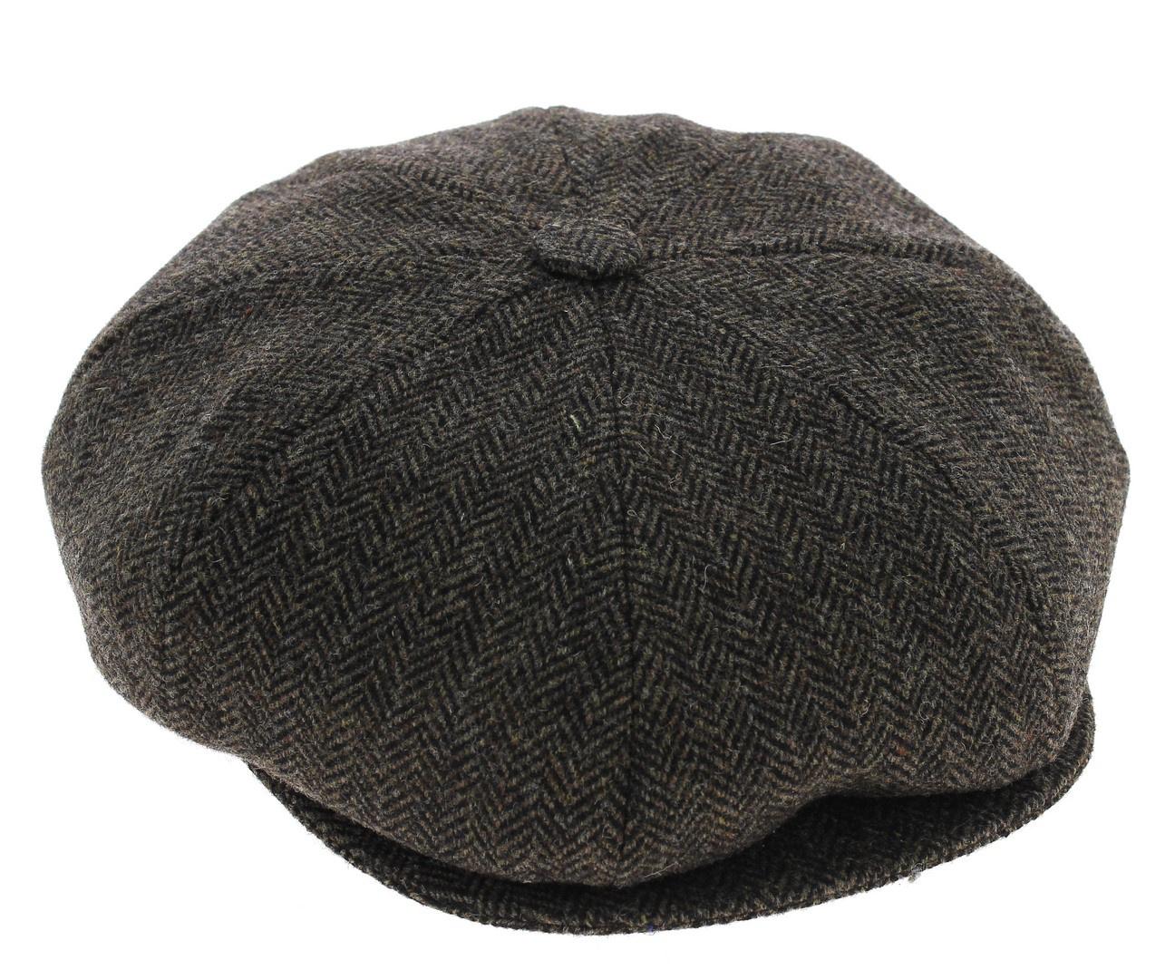 Neuf enfants garçons filles qualité laine vert tweed gilet /& tweed flat cap