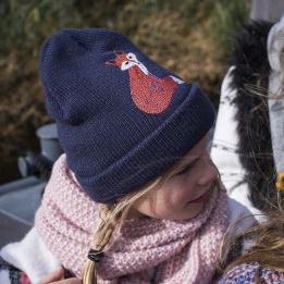 Bonnet  enfant Hera renard marine -Barts