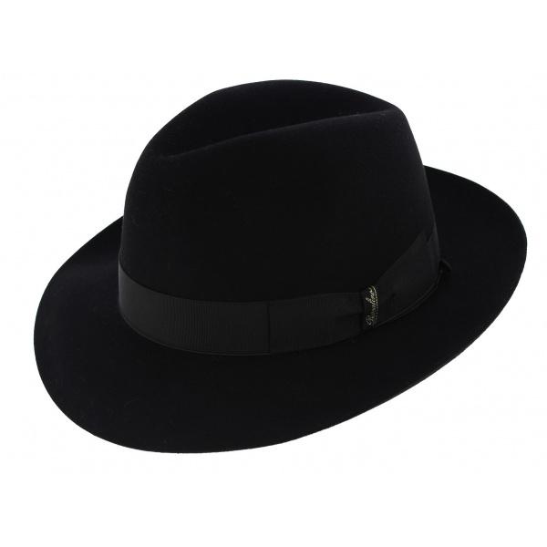 5d669f051e3 Borsalino hat men black par Borsalino