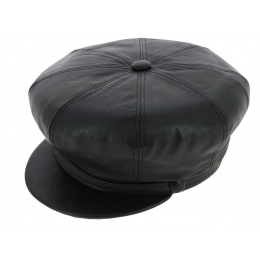 Leather gavroche cap