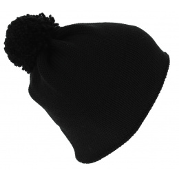 Bonnet Pompon Flaggy France Noir - Eisbär