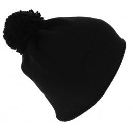 Bonnet Pompon Flaggy France Noir - Eisbär