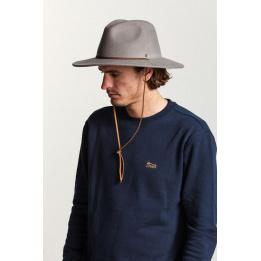Traveller Field Felt Hat Taupe wool - Brixton