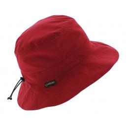 Chapeau de pluie rouge - Gore tex