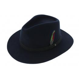 Traveller Hat Yutan Blue Wool Felt - Stetson
