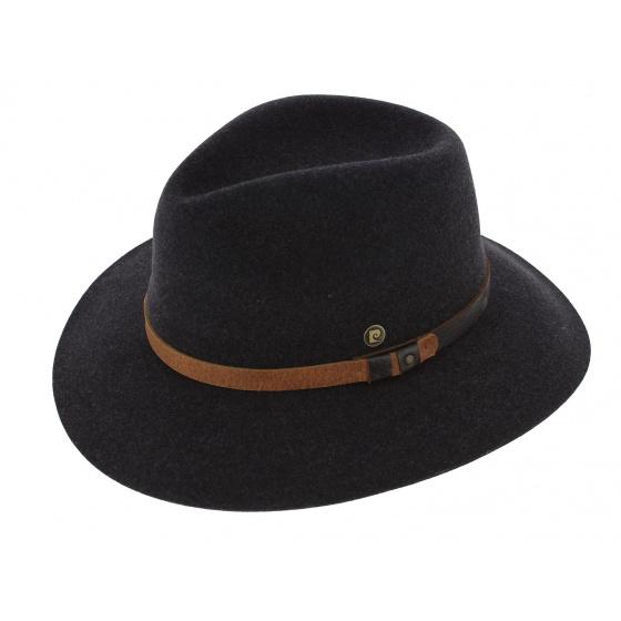 Traveller Riviera Hat Anthracite Wool Felt - Pierre Cardin