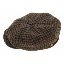Irish cap with red squares