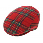 Casquette écossaise rouge