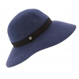Capeline Lorelei Feutre Laine Bleu - Traclet