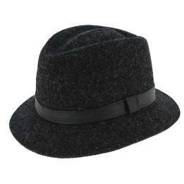 Chapeau Traveller Blarney Laine Harris Tweed Anthracite - Traclet