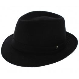 Chapeau Fédora Classico Feutre Laine Noir - Panizza