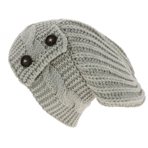 Bonnet Oversize Thorens Laine & Acrylique Beige - Traclet