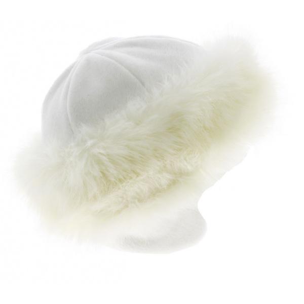 Toque Chamonix Fourrure - Blanc