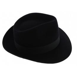 Fédora Curzio Felt Hat - Black - Traclet
