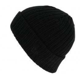 Bonnet Mixte Ribbed Cuff Acrylique Noir- New Era