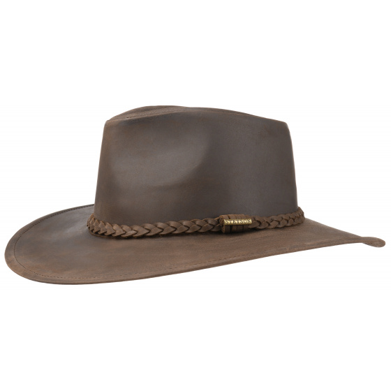Annville hat Stetson brown leather