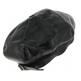 Béret Ajustable Furio Cuir Noir - Traclet