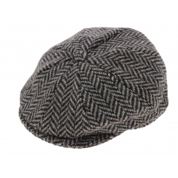 Irish cap gray chevron