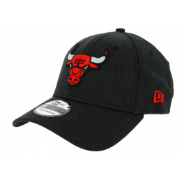 Fitted Heather Bulls Wool Anthracite Cap - New Era