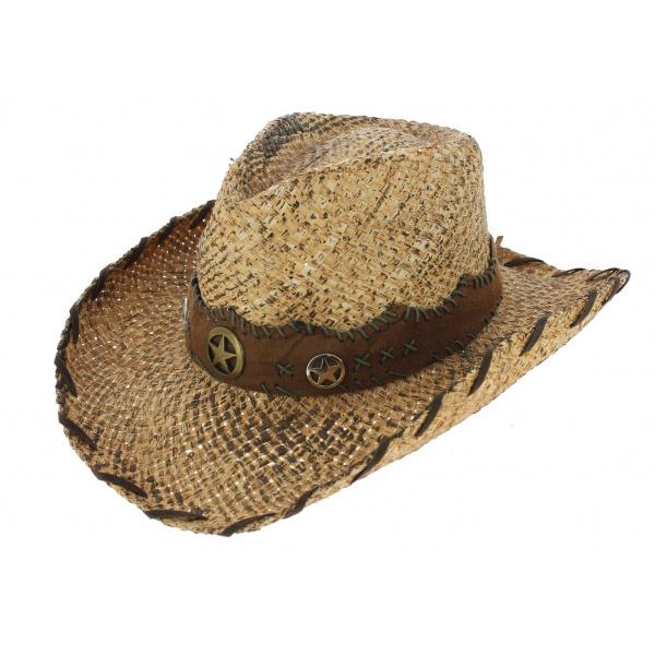 Chapeau Cowboy Shot The Sheriff Paille Naturel - Traclet