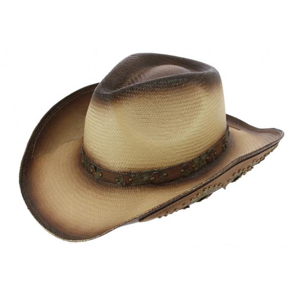 Chapeau Cowboy Brown Wasteland Paille Papier - Traclet
