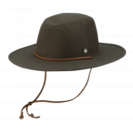 Traveller Hat The Wayfarer Cotton Olive - Coal