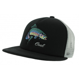 Casquette Trucker The Wilds Coton Noir & Gris - Coal