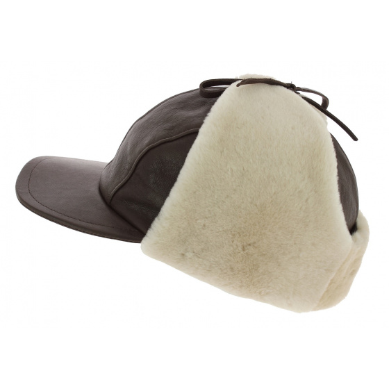 Cap / Chapka Adventurer Leather & Brown Lamb - Traclet