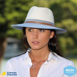 Chapeau Traveller Bicolore Blanc / Corail