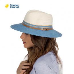 Chapeau Traveller Bicolore Blanc / Corail - Rigon Headwear