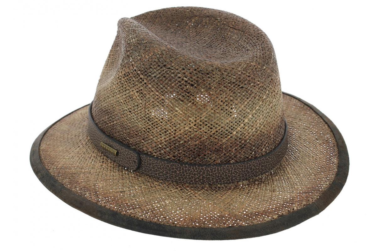 d0e41666db7cf Chapeau Traveller Rodeo Seagrass Paille Marron - Stetson - Chapeau ...