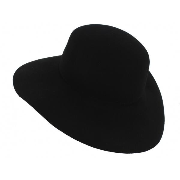"""Chapeau Style """"Marc Veyrat"""" Feutre Laine Noir - Traclet"""