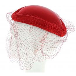 Chapeau cabaret élégance rouge